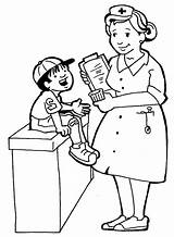 Nurse Coloring Pages Helpful sketch template