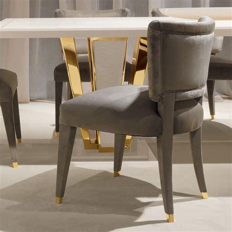 Modern Italian Luxury Mink Velvet Dining Chair