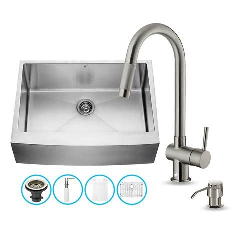vigo kitchen sinks vigo vg15276 vigo all in one 30 inch farmhouse stainless 3150
