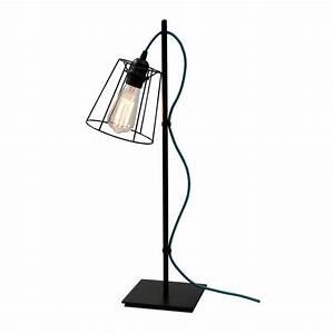 Lampe Bleu Canard : lampe airbis cable bleu canard ~ Teatrodelosmanantiales.com Idées de Décoration