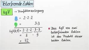 Ggt Und Kgv Berechnen : teilerfremde zahlen ggt und kgv teilerfremder zahlen mathematik online lernen ~ Themetempest.com Abrechnung