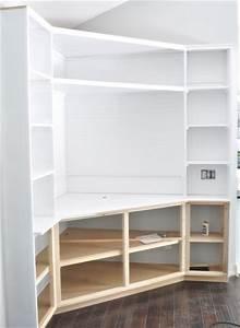 46 Build Corner Shelves, How To Build Simple Corner Wall