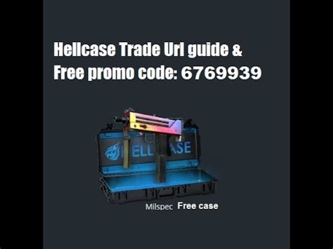 hellcase trade url guide  promo code  youtube