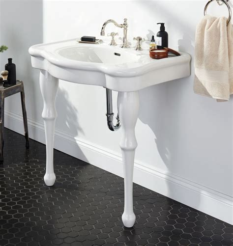 Single Sink Consoles Bathroom pedestal single sink console rejuvenation