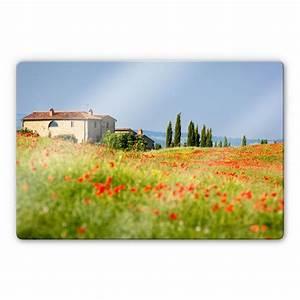 Wall Art Glasbilder : glasbild toskana sch ne kulisse f r italien fans wall ~ Frokenaadalensverden.com Haus und Dekorationen