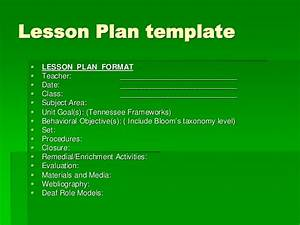 planning lessons With bloom taxonomy lesson plan template