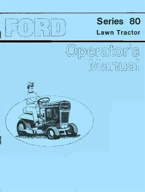 ford series  lawn tractor owners operators manual fd ebay