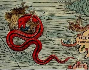Old Sea Map with Monsters | o a r s