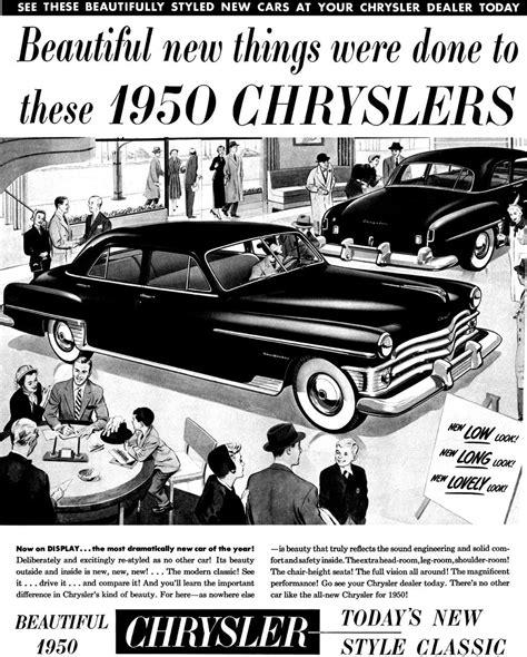 Chrysler Advertising by 1950 Chrysler Ad Auto Advertising Chrysler Imperial
