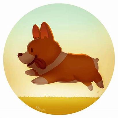 Dog Animation Corgi Animated Animal Simple Run
