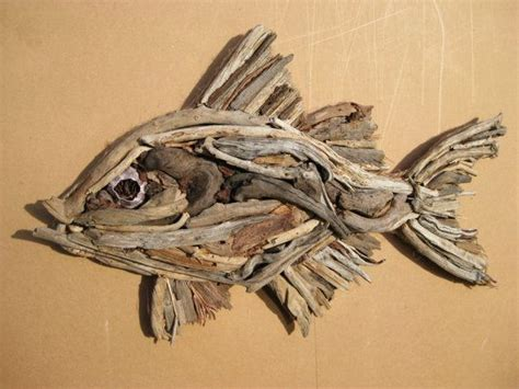 wooden fish wall driftwood fish sculpture beautiful 1618