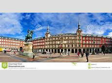 Panorama Of Plaza Mayor, Madrid Editorial Photo Image of