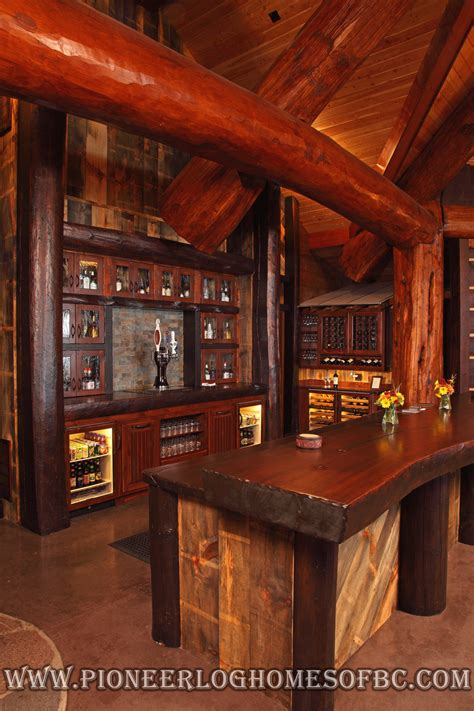 bars  games rooms log home  cabin interiors