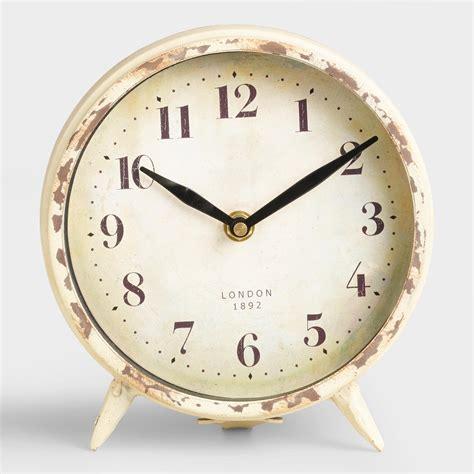 small ivory charlie clock world market