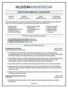 16 free medical assistant resume templates With cma resume