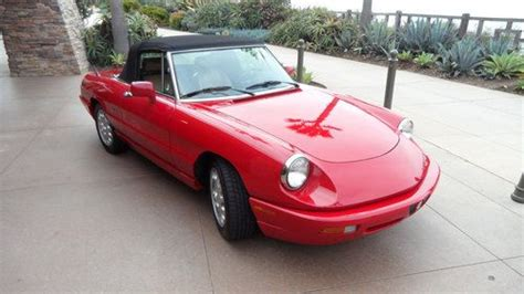 Sell Used 1991 Alfa Romeo Spider Veloce Convertable