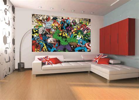 Marvel Mural #marvel #home #decor #wallpaper #wallmural