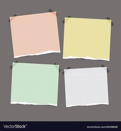 Note Paper Torn Vector Text Space