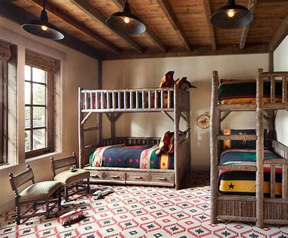Rustic Designs Rooms Comfort Charming Bunk Warmth