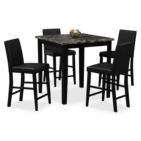 american signature dining table shadow ii 5 pc counter height dinette american