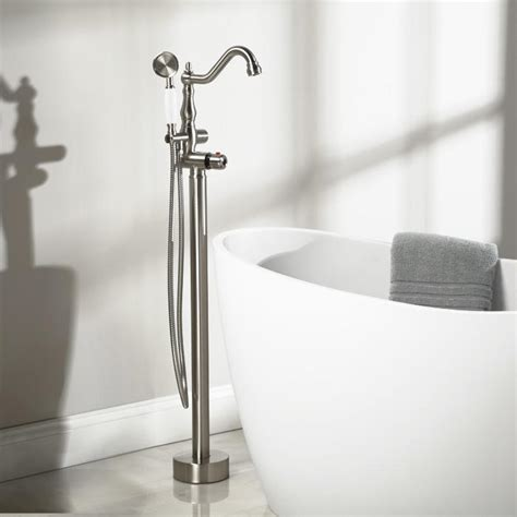 tub filler freestanding keswick freestanding thermostatic tub faucet and shower