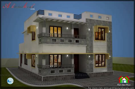 simple elevation house plan    sq ft architecture kerala