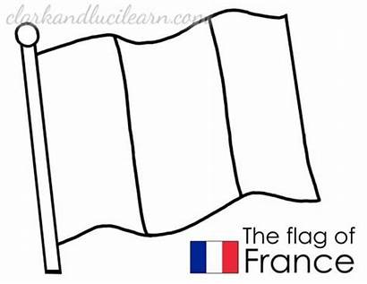 Flag France Coloring French Colouring Worksheets Printable