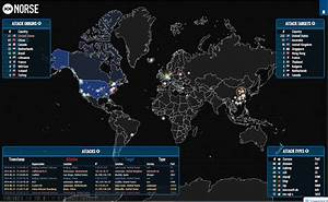 Live maps of lightning and hacking around the globe - Geek ...
