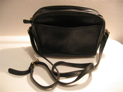 authentic coach black vintage purse womens bag handbag