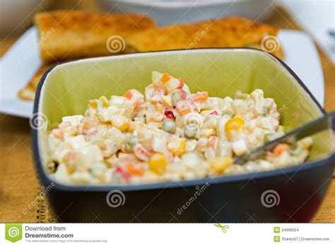 cuisine polonaise traditionnelle salade polonaise photo stock image 54668524