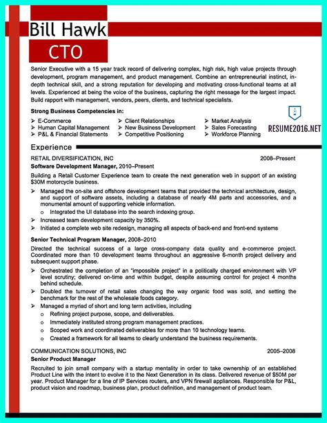 Cto Resume by Cto Resume Or Chief Technical Officer Resume Can Be