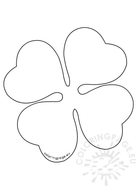 large  leaf clover pattern coloring page