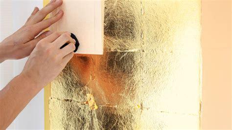 acrylglas badezimmer vergolden mit blattgold anleitung zum selbermachen