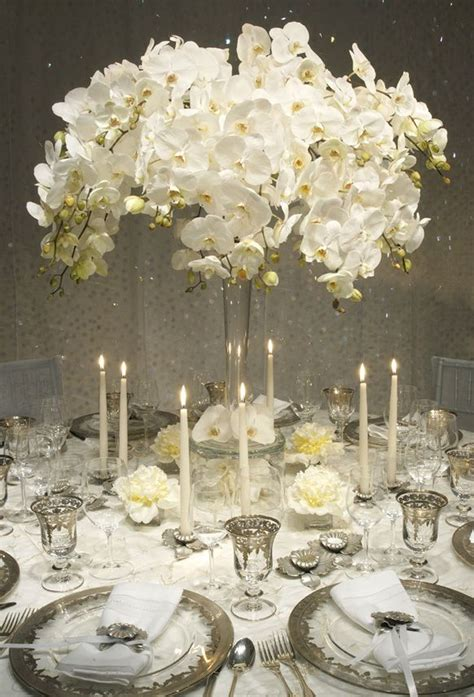 white flower table l 103 best images about white orchid wedding on pinterest