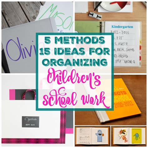 5 alternative methods to storing 15 fantastic ideas for organizing and storing children s school work the happy housie