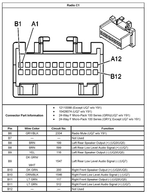 2003 Chevrolet Wiring Diagram Stereo by Chevrolet Bose Wiring Diagram Trusted Wiring Diagrams