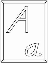 Coloring Nealian Modern Manuscript Letter Font Alphabet Ws sketch template