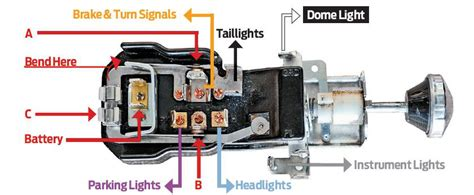 Gm Truck Light Wiring by A 56 Chevy Headlight Switch Wiring Diagrams