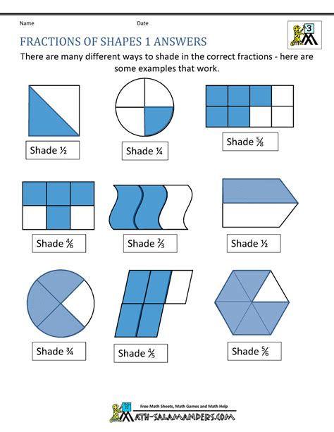find a fractions of a shapes worksheets find fractions