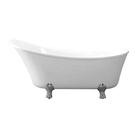 clawfoot tub home depot cahaba pearl 69 in acrylic clawfoot non air bath bathtub