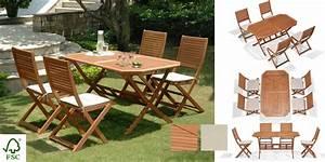 Ensemble De Jardin Pas Cher : ensemble de jardin bois table de jardin avec rallonge pas ~ Dailycaller-alerts.com Idées de Décoration