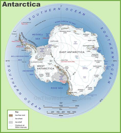 antarctica maps maps  antarctica ontheworldmapcom