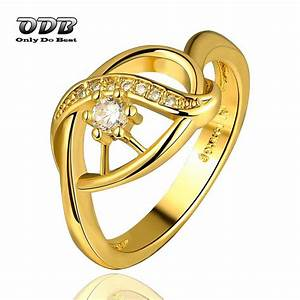 women ring aaa zircon stone 18k 24k real yellow gold With real gold wedding rings for cheap