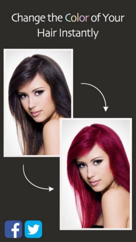 hair color change app 25 best ideas about different hair colors on