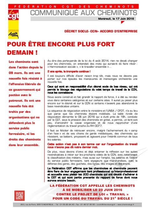 si鑒e cgt montreuil cgt appel greve sncf 23 juin 2016