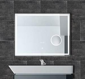 Spiegel Mit Uhr : badspiegel mit uhr led beleuchtung touch kosmetikspiegel badezimmer spiegel ip44 einbaufertig ~ Orissabook.com Haus und Dekorationen