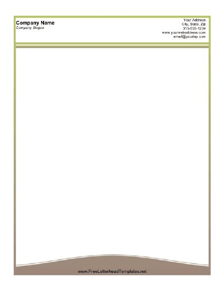 free company letterhead template business letterhead