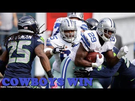 cowboys beat seahawks   week  cowboys  seahawks