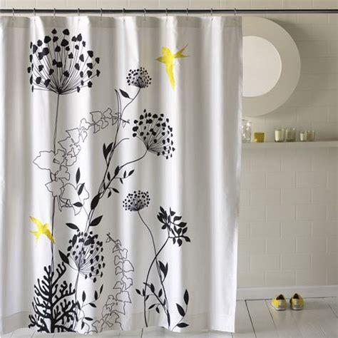 black  white flower shower curtain decor ideasdecor ideas