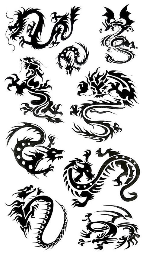 faux tatouage dragons tribal kolawi